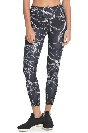 DKNY Women's Etched Floral 7/8 Leggings