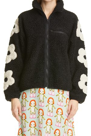 SANDY LIANG Women's Grass Floral Fleece Jacket