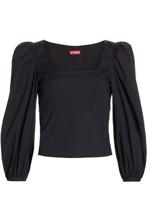 Staud Women's Lana Puff-Sleeve Top - - Size 12