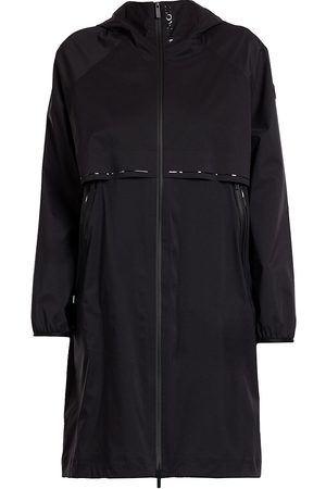 Moncler Women's Shamaliy Long Logo Coat - - Size Large