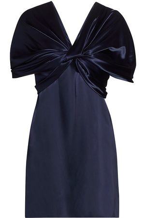 Marina Moscone Women's Twisted Satin Top - Navy - Size 0