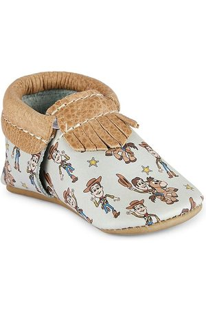 Freshly Picked Baby Boy's Woody City Moccasins - Woody - Size 2 (Baby)