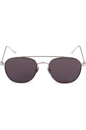 Cartier Women's Core Range 55MM Round Titanium Sunglasses - Grey