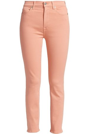 7 for all Mankind Women's High-Rise Ankle Skinny Jeans - Rose - Size 26