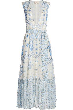 ROCOCO SAND Women's Leas Sleeveless Printed Maxi Dress - - Size Large