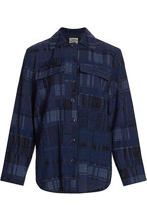 Baum und Pferdgarten Women's Buyu Plaid Shirt - Night Sky - Size 8