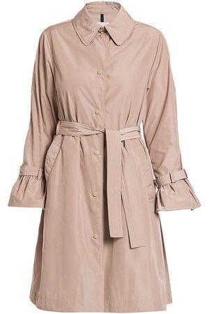 Moncler Women's Navigatoria Bell-Cuff Trench Coat - - Size XL