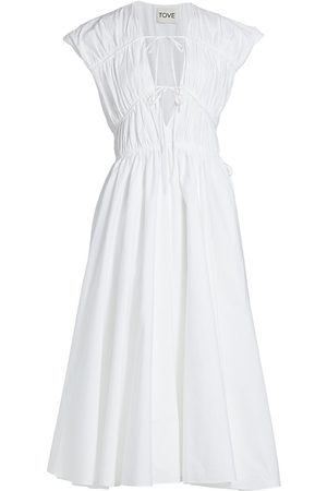 Tove Women's Ceres Midi Dress - Ivory - Size 10