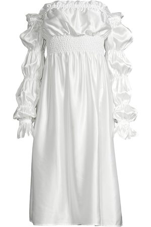 Sleeper Women's Michelin Off-The-Shoulder Silk Dress - - Size Small