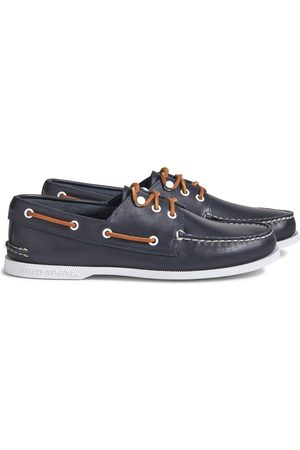 Sperry Top-Sider Men's Sperry Cloud Authentic Original 3-Eye Leather Boat Shoe Navy, Size 7M
