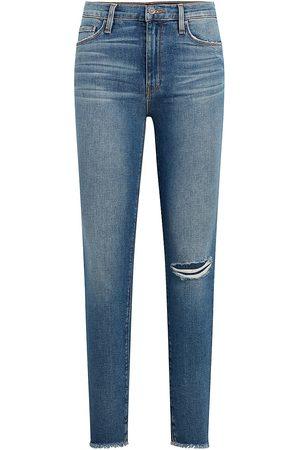 Hudson Women's Barbara High-Rise Distressed Super Skinny Jeans - Dest Padu - Size 30