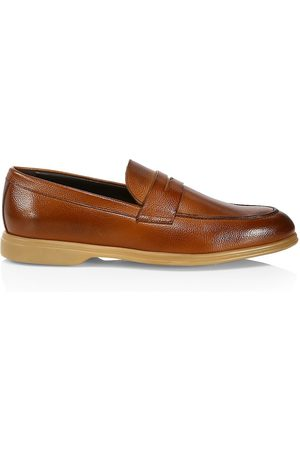 To Boot Men's Ali Leather Penny Loafers - Brandy Ant - Size 13