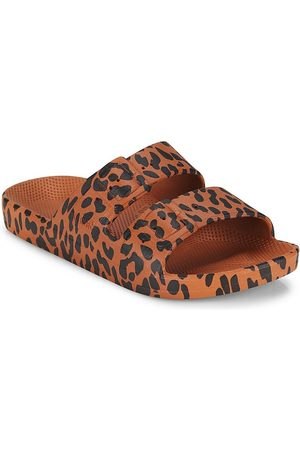Freedom Moses Girl's Leopard Slide Sandals - Leo Toffee - Size 1 (Child)
