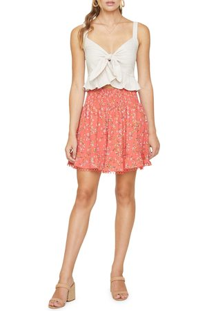 Lost + Wander Women's Everyday Adventures Floral Smock Waist Skirt
