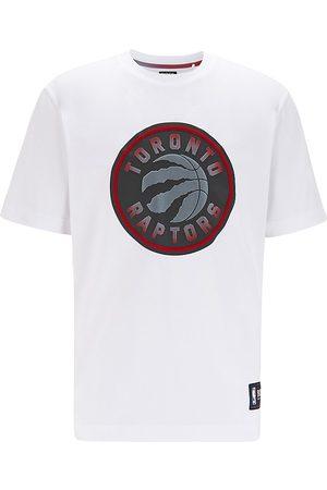 BOSS x NBA Men's Raptors Logo Jersey T-Shirt - Natural - Size Large