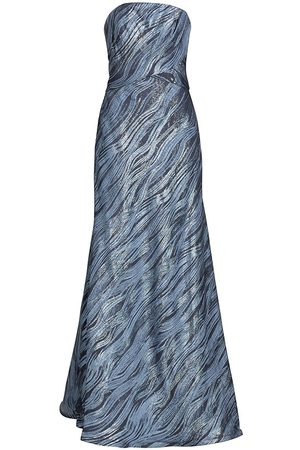 Rene Ruiz Collection Women's Shimmer Fil De Coupe Strapless Gown - - Size 10