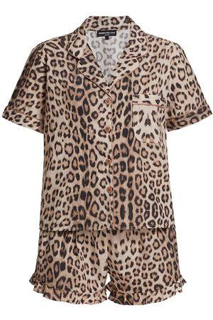 Generation Love Women's 2-Piece Juliets Leopard Pajama Set - Leopard - Size Large