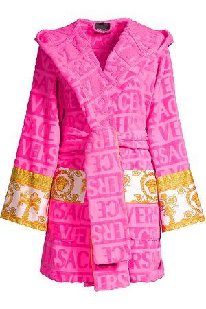 VERSACE Women's Barocco Wrap Robe - Fuchsia - Size Medium