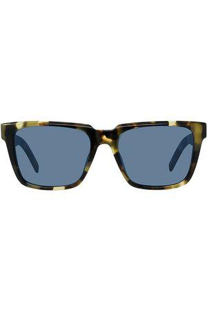 Kenzo Men's 53MM Square Plastic Sunglasses - Smoke Lens Shiny