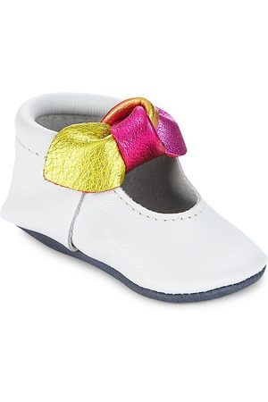 Freshly Picked Baby Girl's Prism Knotted Bow Moccasins - Prism - Size 2 (Baby)