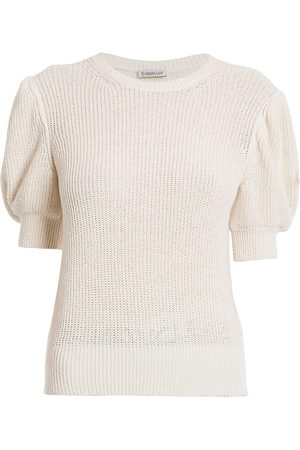 Moncler Women's Knit Puff-Sleeve Top - - Size Small