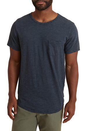 Marine Layer Men's Stripe Saddle Hem Pocket T-Shirt