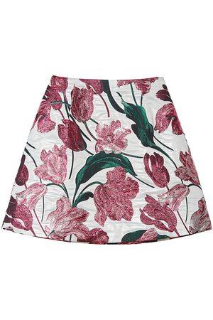 Carolina Herrera Women's A-Line Floral Mini Skirt - Multi - Size 8