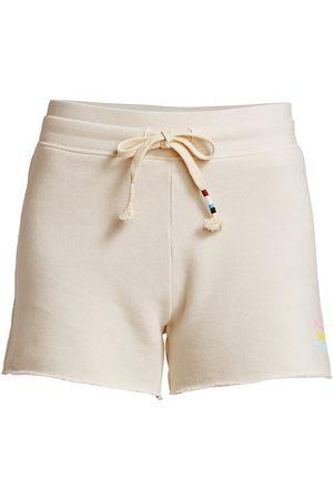 SOL ANGELES Women's Neon Waves Shorts - Ecru - Size Small