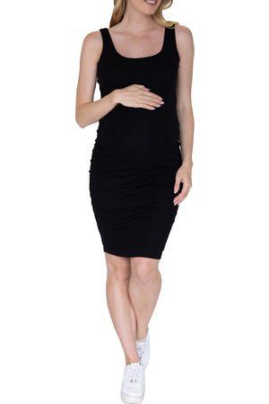 Angel Maternity Women's Body-Con Sleeveless Maternity Dress