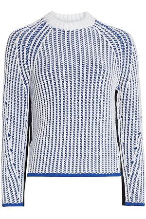 3.1 Phillip Lim Women's Two-Tone Ribbed Knit Pullover - - Size Medium