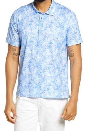 Bugatchi Men's Ooohcotton Tech Marbled Knit Polo