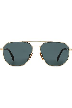 David beckham Men's 60MM Square Aviator Sunglasses