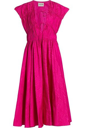 TOVE Women's Phoebe Midi Dress - Fuchsia - Size 8