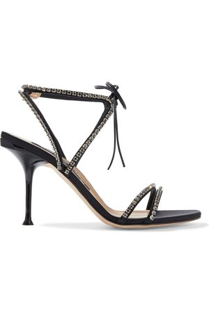 Sergio Rossi Woman Sr Milano Crystal-embellished Satin Sandals Size 36