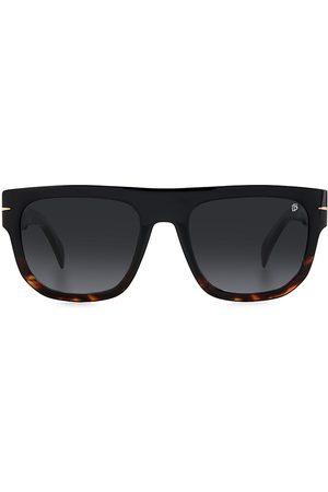David beckham Men's 54MM Rectangular Sunglasses - Havana