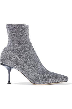 Sergio Rossi Woman Sr Milano Lurex Sock Boots Size 36