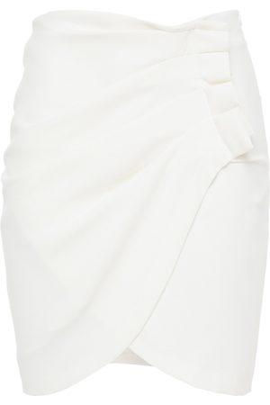 IRO Woman Pauline Wrap-effect Pleated Crepe Mini Skirt Size 34