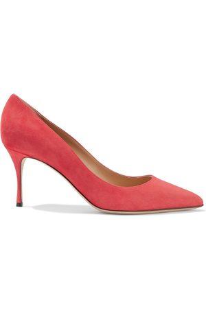 SERGIO ROSSI Woman Godiva Suede Pumps Coral Size 36.5