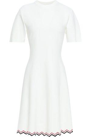 Proenza Schouler Woman Stretch-knit Mini Dress Ivory Size L