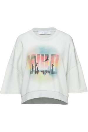 IRO Woman Luze Cropped Printed French Cotton-blend Terry Sweatshirt Sky Size M