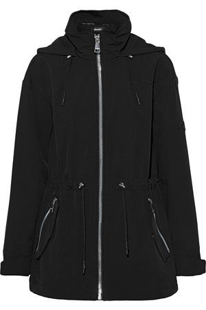 DKNY Women Parkas - Woman Shell Hooded Parka Size L