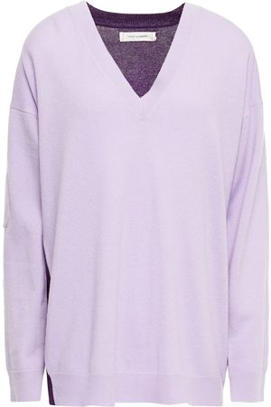 Chinti & Parker Woman Two-tone Wool And Cashmere-blend Sweater Lilac Size S