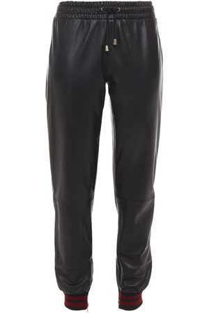 Muubaa Woman Leather Track Pants Size 10