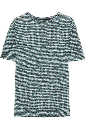Proenza Schouler Woman Printed Slub Cotton-jersey T-shirt Teal Size L