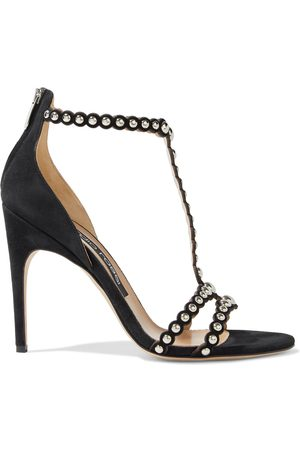 Sergio Rossi Woman Dafne Studded Suede Sandals Size 36