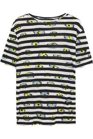 Proenza Schouler Woman Printed Slub Cotton-jersey T-shirt Midnight Size L