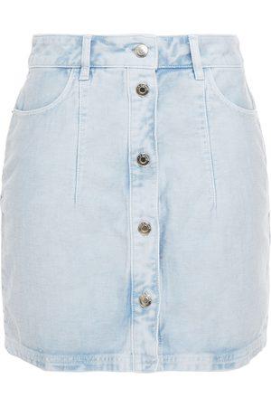 IRO Woman Macaria Bleached Denim Mini Skirt Light Denim Size 40