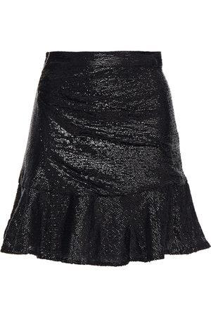 IRO Woman Nako Fluted Sequined Crepe De Chine Mini Skirt Size 38