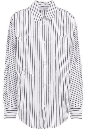 IRO Woman Acalco Pinstriped Cotton-poplin Shirt Size 34