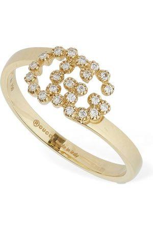 Gucci 18kt & Diamond Gg Running Ring